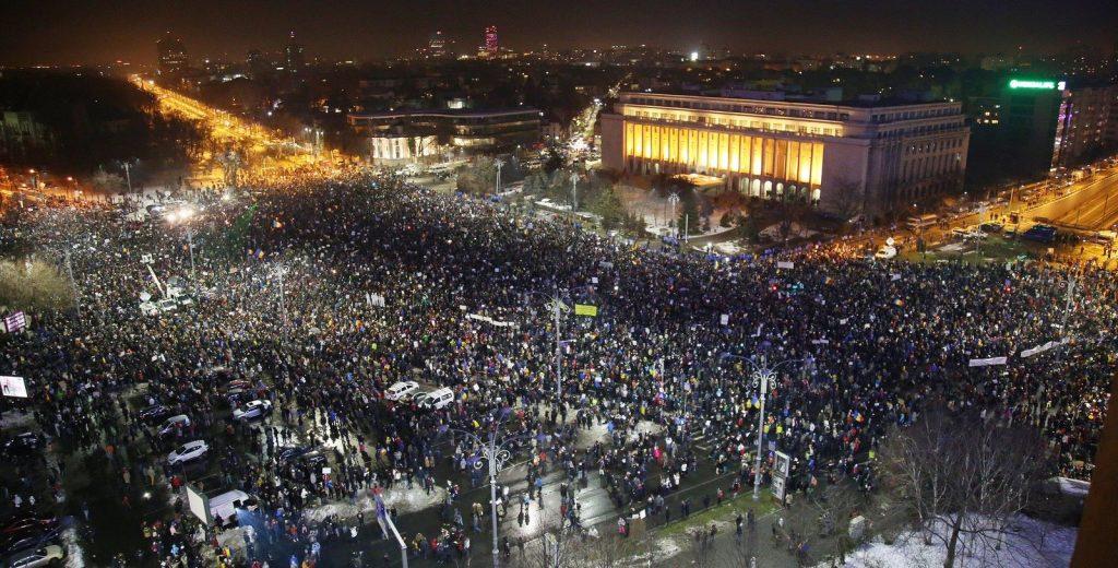 Proteste anti OUG amnistie & gratiere (foto Ciprian Muntele)